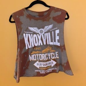 Knoxville Motorcycle Muscle Tee Crop Top Size M